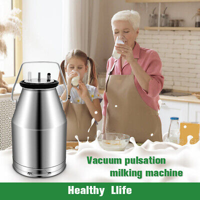 $119.99 • Buy 25L Milking Machine For Dairy Cow Portable Professional Pail Stainless Steel