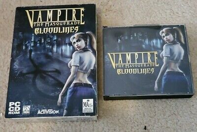 AU34.95 • Buy Vampire The Masquerade: Bloodlines For PC (Original Smallbox, 3 CDs, No Manual)