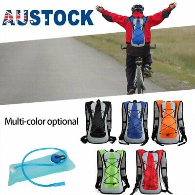 AU16.99 • Buy Sport Vest Hydration Backpack 2L Water Bladder Bag For Cycling Hiking Running