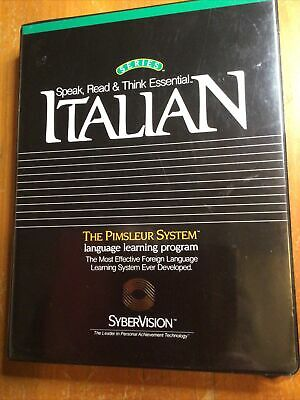 £18.85 • Buy Sybervision The Pimsleur System Italian Language Learning Full Set Cassettes