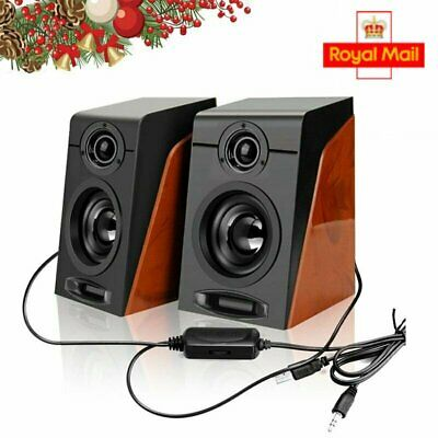Mini Portable USB Audio Sound Bar Stereo Speaker For Laptop Computer PC Notebook • 11.79£