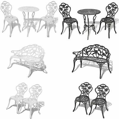 1/2/3X Bistro Table And Chairs Set Cast Aluminium Metal Garden Bench Furniture • 169.59£
