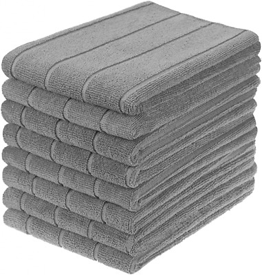 £19.38 • Buy Gryeer Microfibre Tea Towels, Super Absorbent, Extra Large And Thick Grey