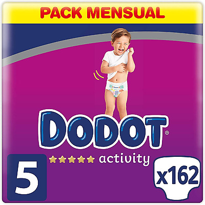View Details Dodot Activity Diapers Size 5 (11-16kg), 162 Diapers Nuevo Talla 5 (11-16 Kg) • 35.55£