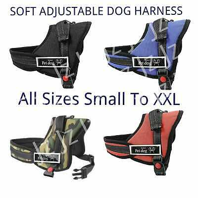 £9.50 • Buy Harness Dog Adjustable Puppy Pet Vest Soft Reflective Comfortable Small S / XXL