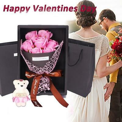 AU14.45 • Buy Valentine's Day 7 Flowers Soap Flower Rose Box Bear Bouquet Festival Gifts