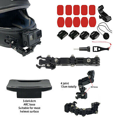 AU15.15 • Buy Motorcycle Helmet Chin Mount Holder Fit For XiaoYi GoPro Hero6/5/4 Action Camera