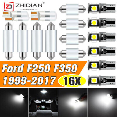 $16.59 • Buy For FORD F250 F350 1999-2017 USA White Roof Cab Marker LED Bulbs Interior Lights