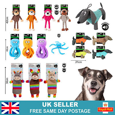 £2.95 • Buy Cute Pet Dog Chew Toy Squeaker Squeaky Soft Plush Play Sound Puppy Teeth Toys UK