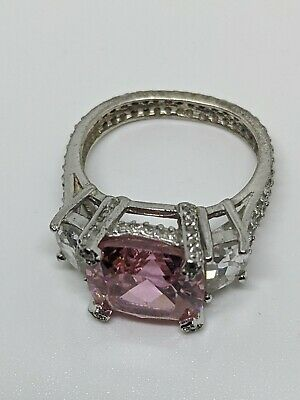 $39.99 • Buy CWE Charles Winston CZ Sterling Silver 925 Pink Ring Size 7