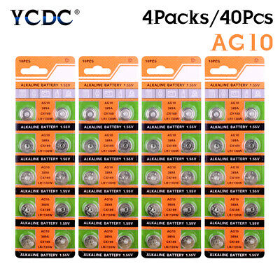 AU5.51 • Buy 40Pcs 1.55V AG10 LR54 LR1130 L1131 389 189 Alkaline Battery Button Cell Coin 7A