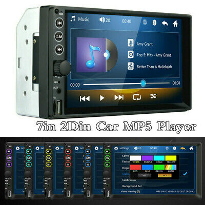 $49.99 • Buy 7in Car FM Stereo Radio Double 2DIN MP5 Player Touch Screen BT Audio USB/TF/AUX