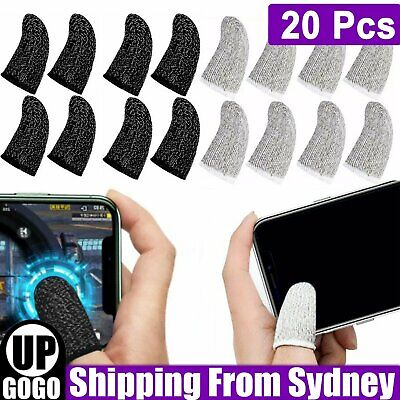 AU10.99 • Buy 20x Gaming Finger Sleeve Mobile Touch Screen Controller Sweatproof Glove Thumb A