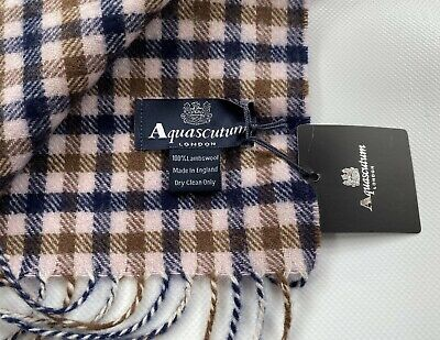 Aquascutum Scarf Brand New With Tags Lambswool • 29.99£