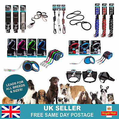 £3.49 • Buy Durable Strong Dog Leads | Retractable Slip Rope Training Puppy Walking Leash UK