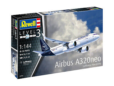 69201 Revell 03942 Airbus A320neo Lufthansa New Livery Kit 1:144 New Boxed • 18.56£
