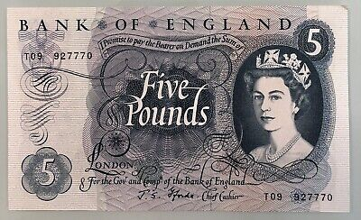 Old Five £5 Pound Note Uncirulated • 40£
