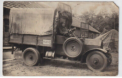 WW1 Military Lorry Real Photo Postcard - All Original • 11£