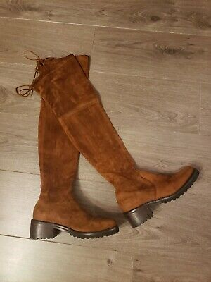 Stuart Weitzman Midland Over The Knee Brown Suede Boots UK4 EU37 RRP £750 • 55£