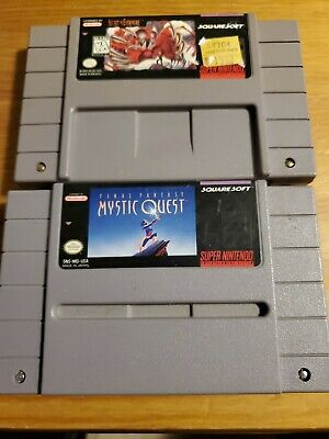 $ CDN58.45 • Buy LOT Secret Of Evermore+Final Fantasy Mystic Quest TESTED AUTH RPG Nintendo SNES