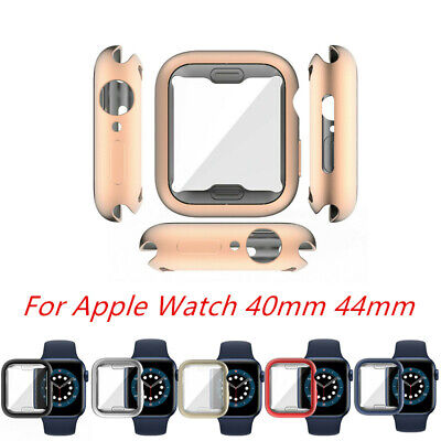 $ CDN6.99 • Buy Matte Metal Screen Protector Case Cover Shell For Apple IWatch Series 6 5 4 SE