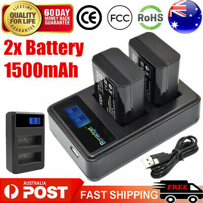 AU28.99 • Buy 2x 1500mAh NP-FW50 Battery + LCD Dual Charger For Sony A3000 A5000 A6000 A6300