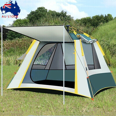 AU83.52 • Buy Automatic Quick Open Camping Outdoor Tent Waterproof Double Layer 3-4 Persons AU