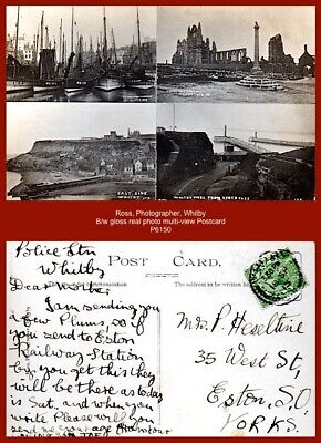 £4.90 • Buy Ross, Photographer, Whitby - B/w Gloss Real Photo Multi-view Postcard Of WHITBY