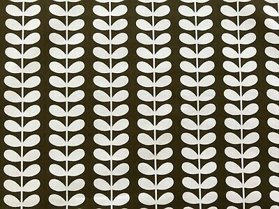 Orla Kiely Tiny Stem Fabric Remnant - 200cm X 100cm Cocoa Brown - 100% Cotton • 55£