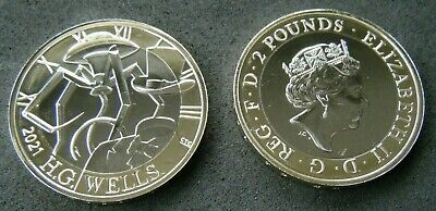 2021 H G Wells £2 Two Pound Coin Brilliant Uncirculated Bu  • 14.99£