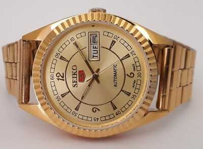 $ CDN43.73 • Buy Vintage Seiko 5 Automatic Day-Date Gold Plated Movement No.8200 Men's Watch