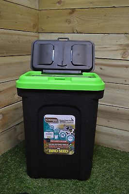 £15.35 • Buy Large Pet Food Container Bin With Scoop For Animal Dry Feed Cat Dog Bird Seed