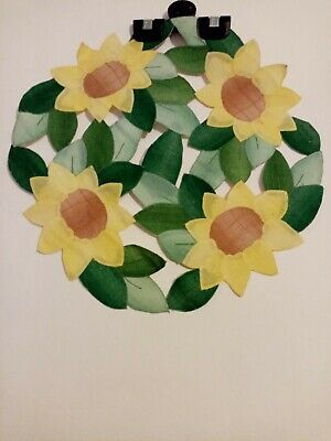 Applique Sunflower Dressing Table / Sideboard Mat • 3.95£