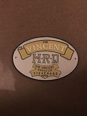 £16.75 • Buy Vincent HRD Motorcycle Sign  Retro Cast Iron Wall Plaque British Motorbikes Bran