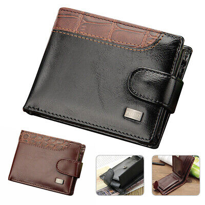 AU16.73 • Buy Mens PU Leather Wallet Purse Bifold Credit Card Wallet RFID Blocking Anti Scan