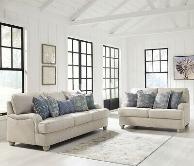 AU1990 • Buy NEW Isabelle 3+2 Seater Indoor Fabric Lounge Suite | Hamptons Style Living Room