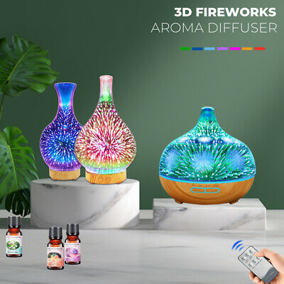 AU33.09 • Buy Aroma Diffuser Aromatherapy Ultrasonic 3D Air Humidifier Essential Oil Purifier
