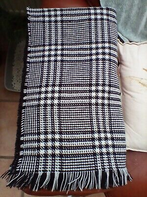 £2.75 • Buy Black White Checked Houndstooth Reversable Scarf