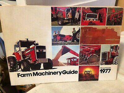 1977 Massey Ferguson Farm Machinery Guide Catalog Tractor Brochure • 6.54£