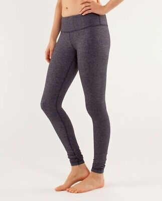 $ CDN45.93 • Buy LULULEMON Wunder Under Pant Heathered Herringbone Heathered Black Size 8 Low