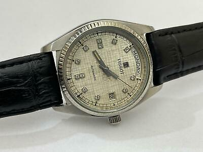 Vintage Tissot Le Locle 85005 Diamond Dial Automatic Gents Swiss Watch, Perfect • 250£