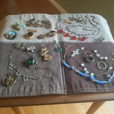 $ CDN48 • Buy Vintage Jewelry Lot 25 Pieces Rings Chokers Bracelet Brooches Etc