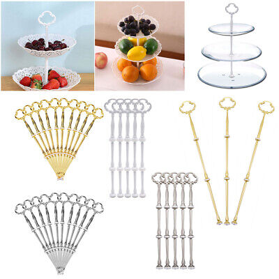 £10.49 • Buy 3/5/10 Set 3 Tier Cake Cupcake Plate Stand Rack Fitting Handle Rod Wedding Party