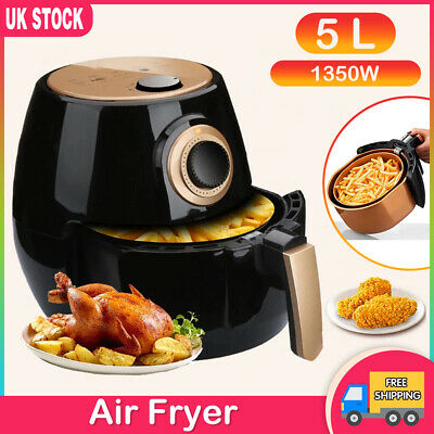 View Details 5L Digital Air Fryer Touch Screen Cookbook Oil Free Low Fat Health Cooker 1350W • 56.99£