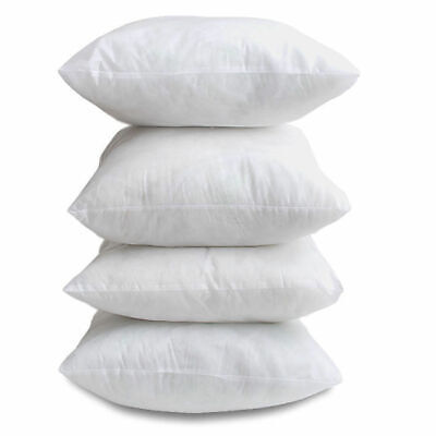 Pack Of 6 18 X 18  Hollow Fibre Cushion Pads Inner Fillers Inserts Sofa Cushions • 9.86£