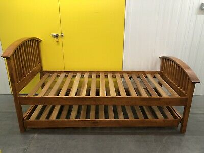 John Lewis-Willis Gambier Solid Oak Bed &pullout Guest Bed Delivery Available🚚 • 250£