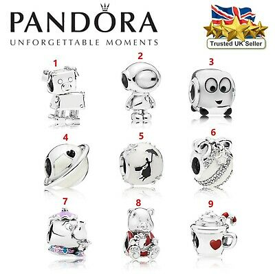 PANDORA SPECIAL Disney Style European Charm With FREE Pouch Bag - Silver Tone • 9.99£