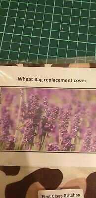 Fabric Cover For MICROWAVABLE Lavender WHEAT/HEAT BAG Wrap Gift Him Her • 1.99£