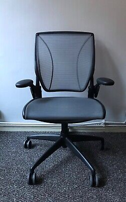 Humanscale Diffrient World All Mesh Ergonomic Lumbar Support Office Chair Eco • 249.99£