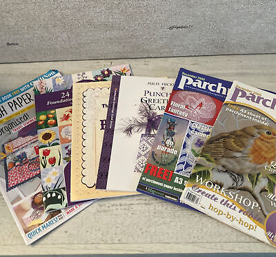 6 X Craft Magazine Bundle - Paper Pricking Piecing Parchment Punched Cards Book • 15.99£